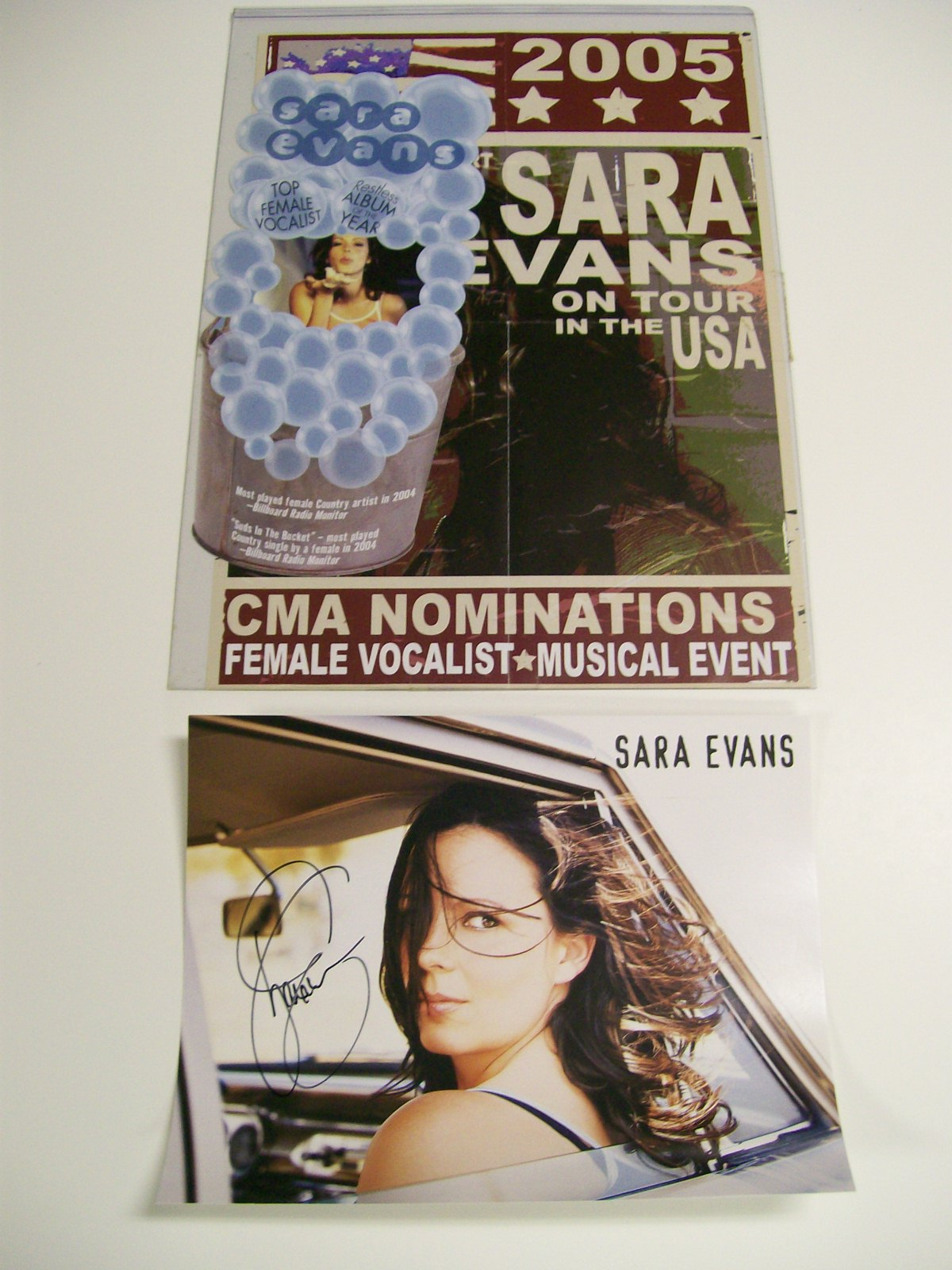 SARA EVANS 2005 #1 TOUR POSTER & AUTOGRAPHED PHOTO