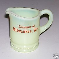 Milwaukee Wisconsin Souvenir Custard Glass Creamer