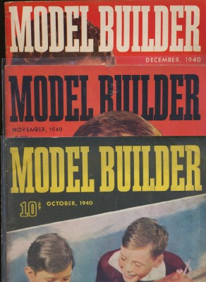 1940 Lionel Model Railroad Train Model Builder Magazine Lot