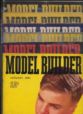 Full Year 1941 Lionel Model Railroad Train Model Builder Mags