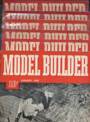 Full Year 1945 Lionel Model Railroad Train Model Builder Mags