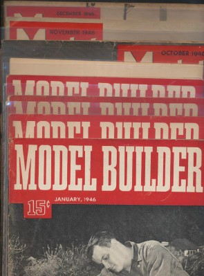 Full Year 1946 Lionel Model Railroad Train Model Builder Mags