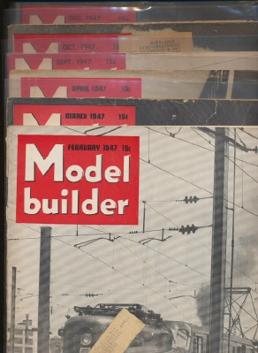 1947 Lionel Model Railroad Train Model Builder Magazine Lot