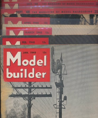Full Year 1948 Lionel Model Railroad Train Model Builder Mags