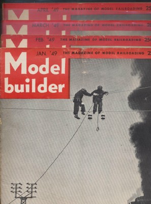 Half Year 1949 Lionel Model Railroad Train Model Builder Mags