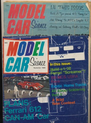1969-70 Model Car Science Slot Car Racing Magazines