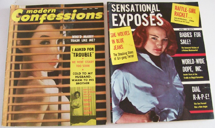 1950s Modern Confessions & Sensational Exposes Magazines - Vol 1