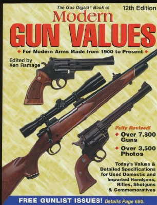 Modern Gun Values For Firearms 1900-2003 - Price Guide