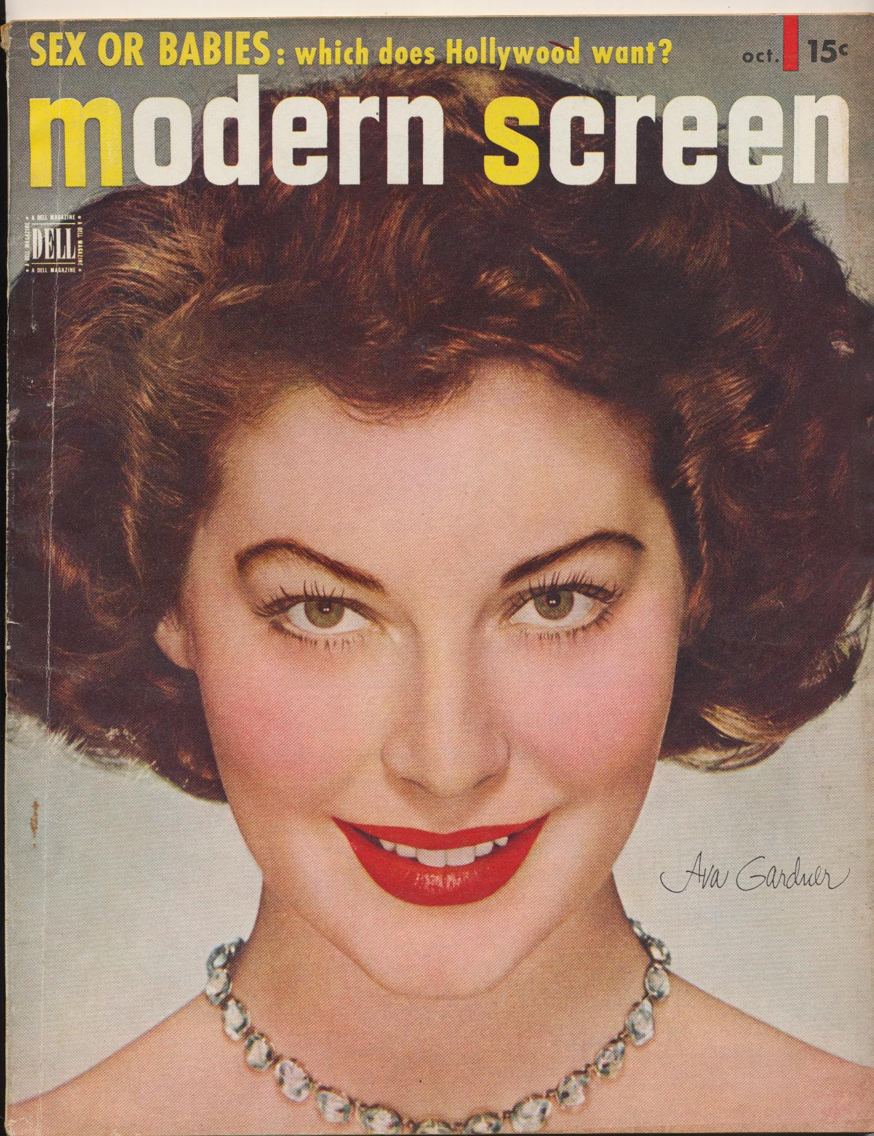 October 1950 Modern Screen Movie Star Fan Magazine - Ava Gardner