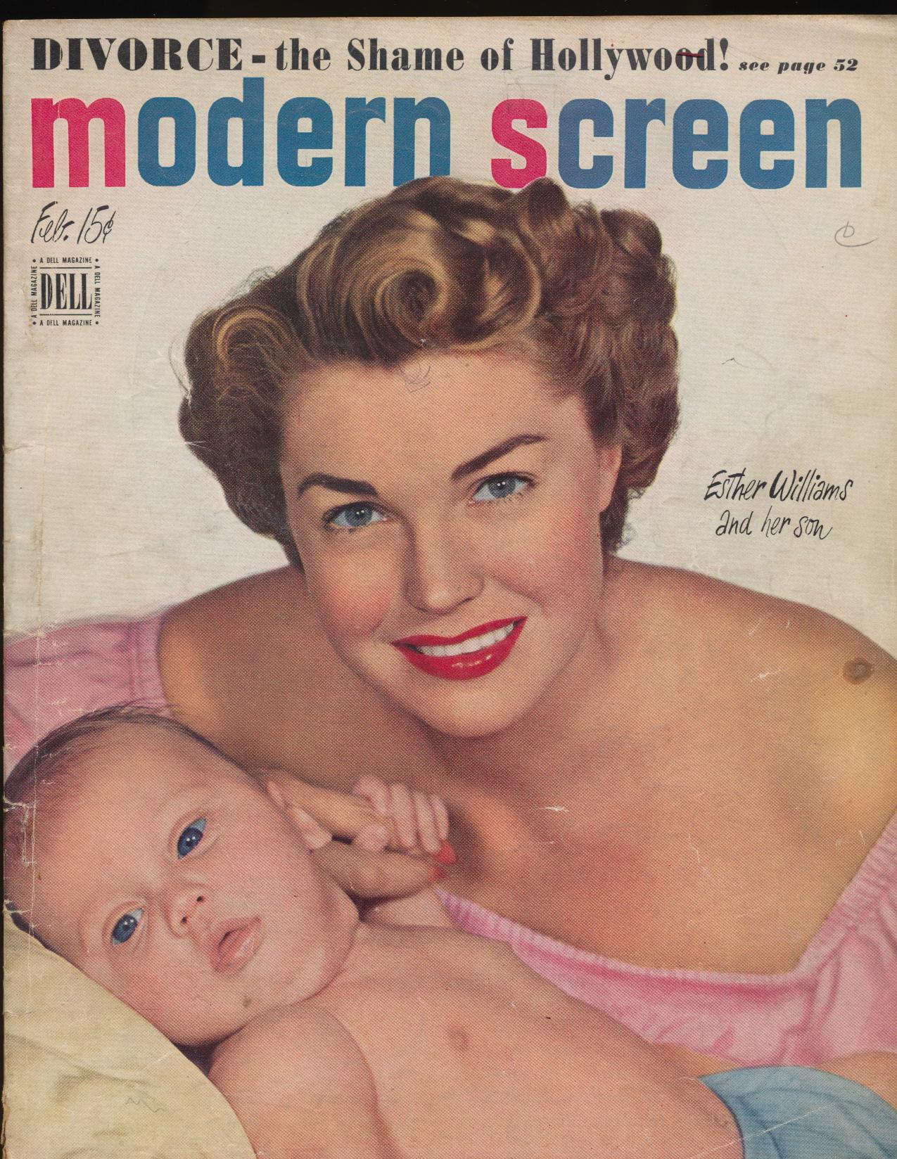 February 1950 Modern Screen Movie Fan Magazine - Esther Williams