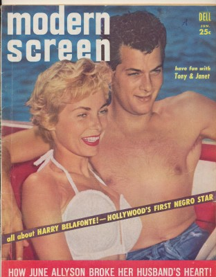 1957 Modern Screen Movie Fan Magazine--Tony Janet Belafonte +