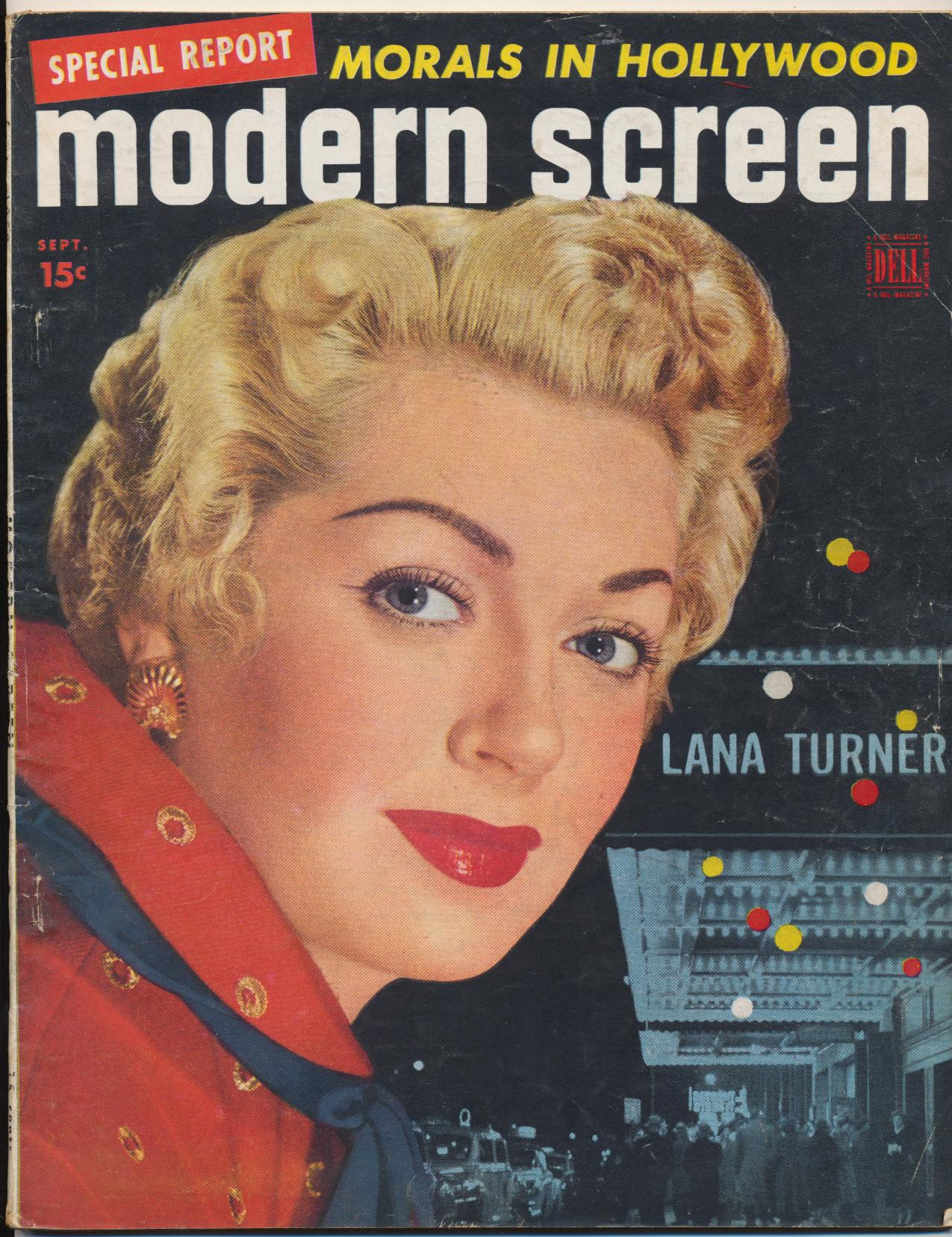 September 1950 Modern Screen Movie Fan Magazine - Lana Turner
