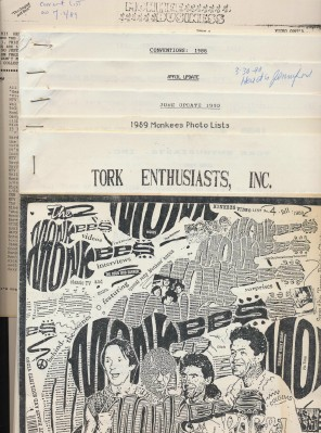 Monkees Lot - Concert Schedules Photo/Video Lists Tork Club +