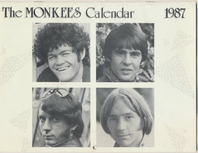 1987 Monkees Calendar - Great Photos + Significant Monkees Dates - Click Image to Close