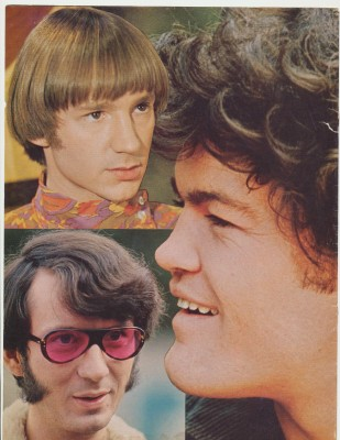 Lot Of Vintage Monkees Magazine Covers & Full Page Color Pix