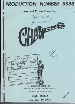 1967 Script From Monkees Movie Head Formerly Changes