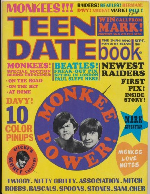 Sept 1967 Teen Date Book - All About The Monkees
