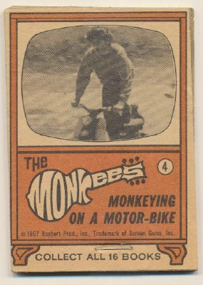 1967 Monkees Flip Book - Monkeying On A Motor-Bike
