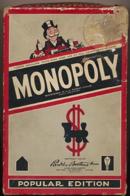 1954 Monopoly Game - Red Box - Wood & Metal Pawns