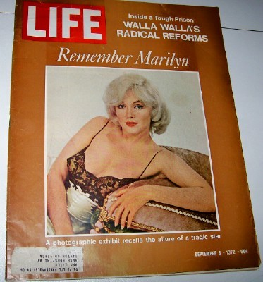 September 1972 Life Magazine - Marilyn Monroe Memorial Cover
