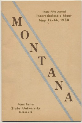 1938 Montana State Univ Program Track & Field Golf Tennis