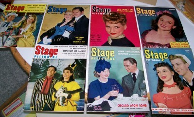 Broadway Theater Stage Pictorial Fan Magazine Lot 1945-1946