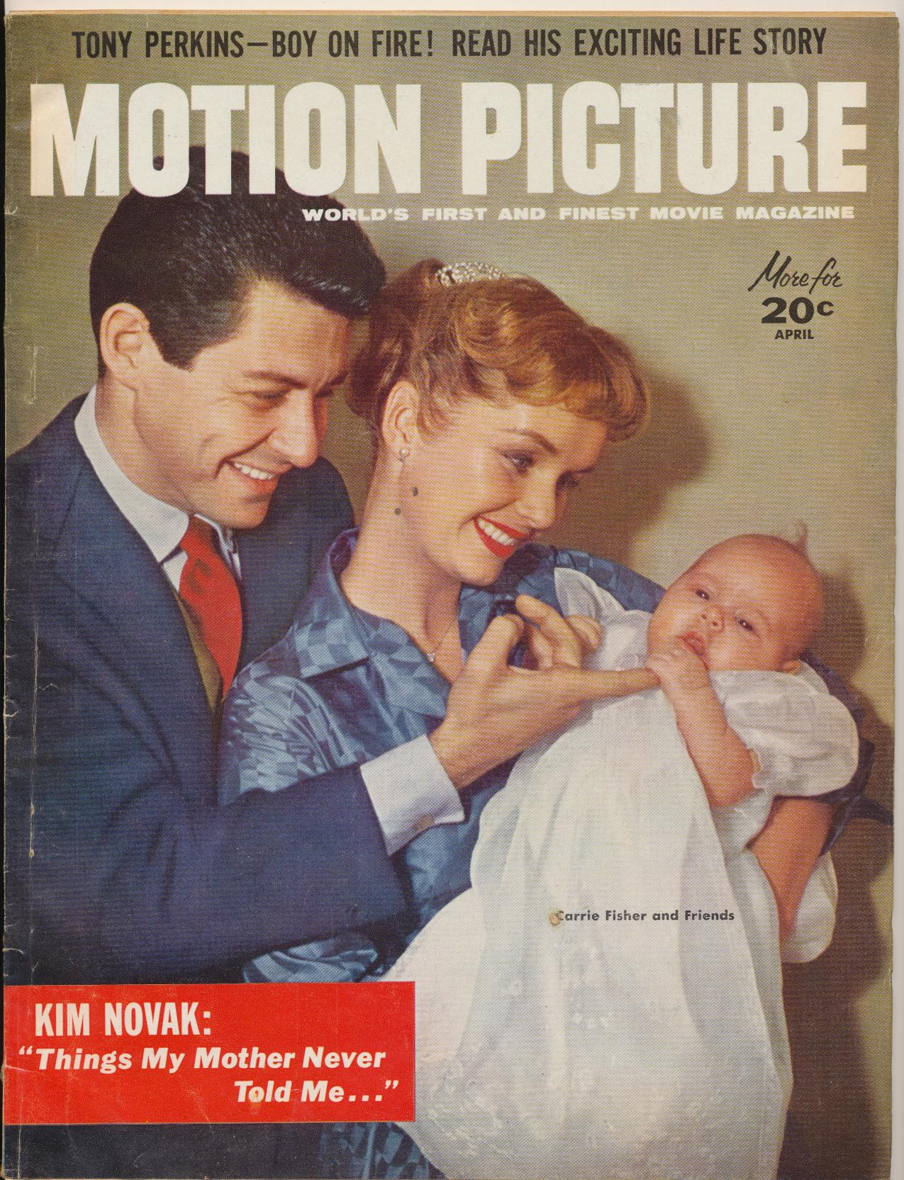 April 1957 Motion Picture Movie Mag - Debbie Eddie Carrie Fisher