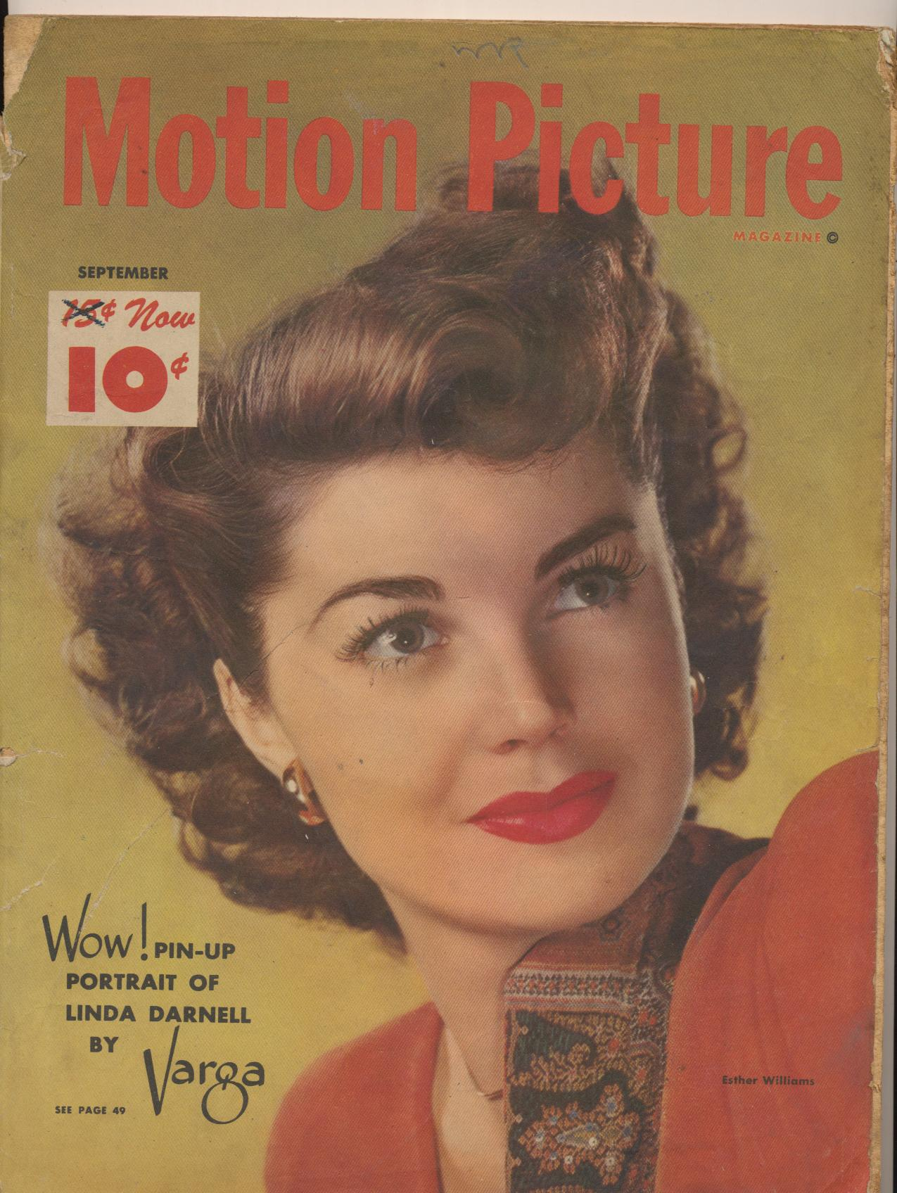 Sept 1947 Motion Picture Movie Fan Mag Esther Williams Cover