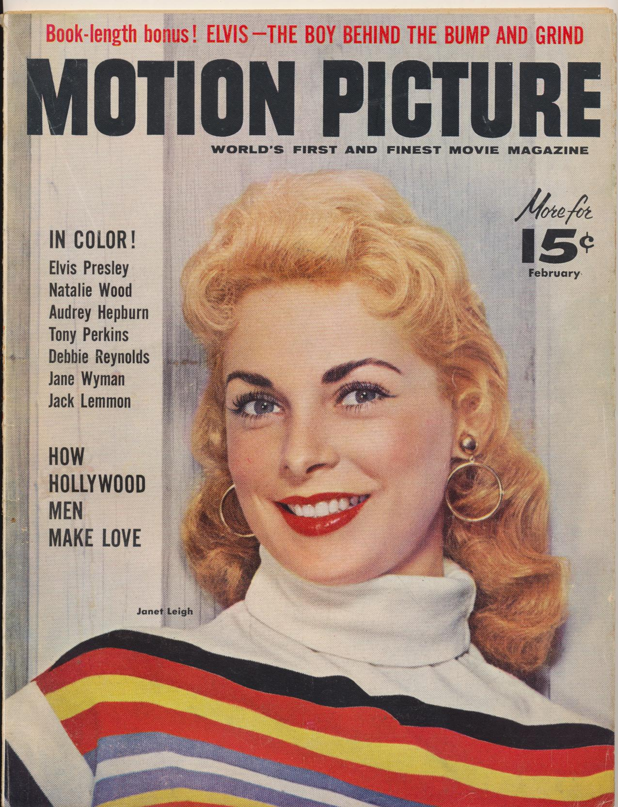 Feb 1957 Motion Picture Mag - Elvis Book Length Biography