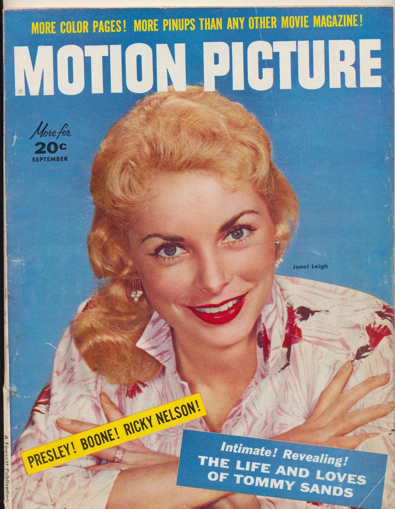 Sept 1957 Motion Picture Mag - Elvis Engaged To Yvonne Lime