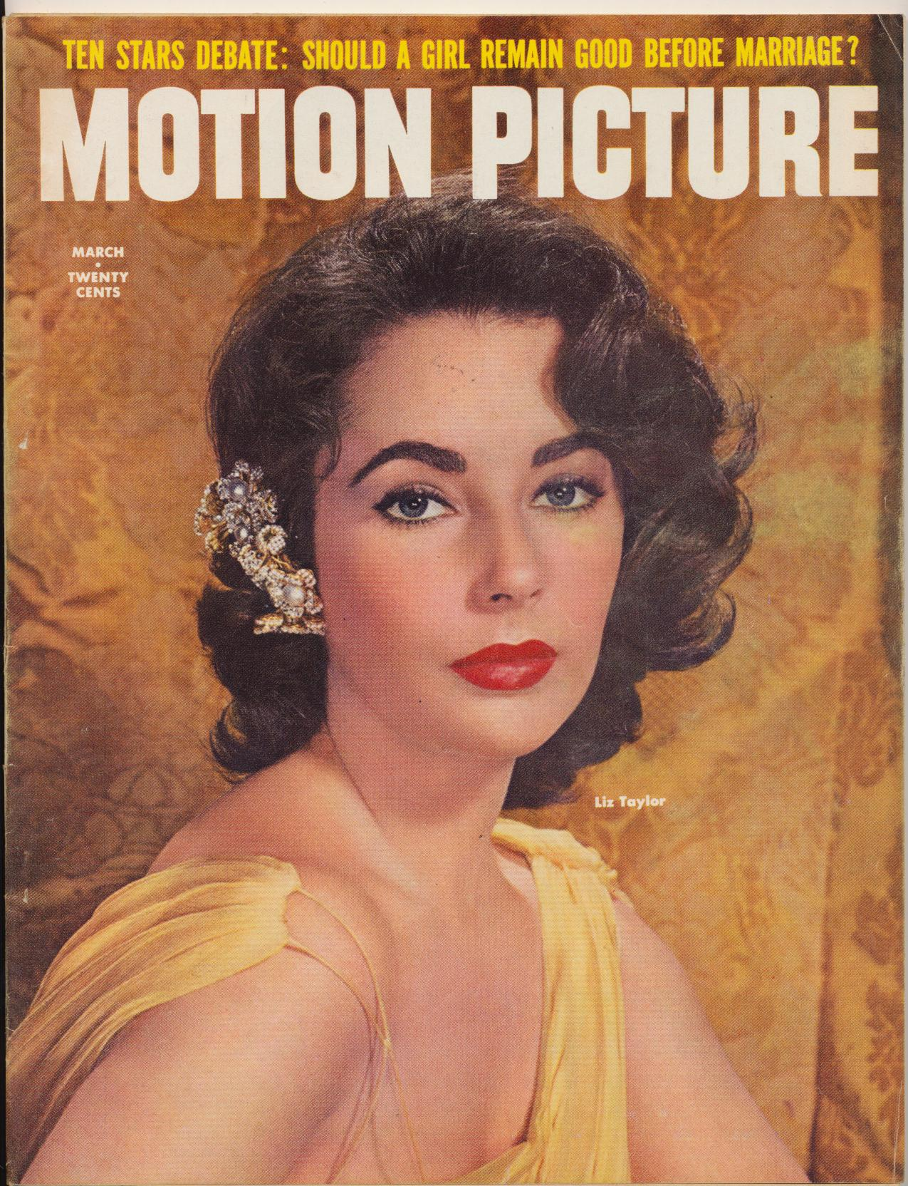 March 1957 Motion Picture Movie Fan Mag - Elvis & Liz ++