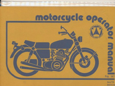 1976 Motorcycle Operator Manual - PA Dept Of Transportation