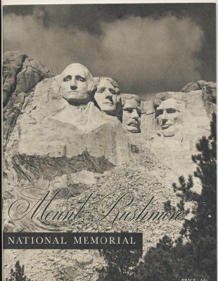 Vintage 1948 Construction Of Mount Rushmore Photo History Book