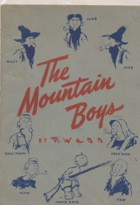 Mountain Boys Cartoon Book By Paul Webb - Auto Lite Spark Plug