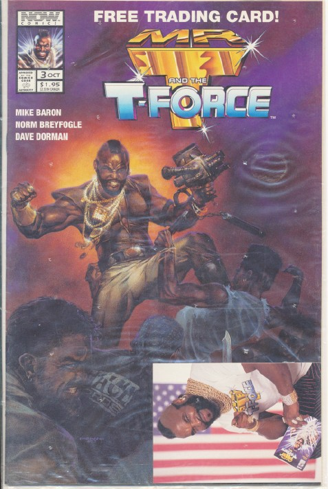 Vintage Mr T & the T-Force Comic Book & Trading Card - Sealed