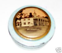 Vintage Mt Vernon VA Souvenir Metal Vanity Powder Box