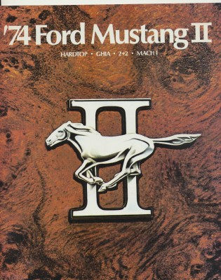 1974 Ford Mustang II Showroom Sales Lit With Color Chip Chart