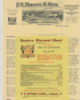 1919-26 Illustrated Letterheads - Farm Equipment & Milling