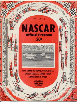 1959 NASCAR Daytona Grand National Championship Racing Program