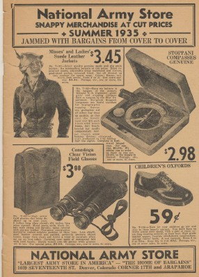1935 National Army Store Catalog