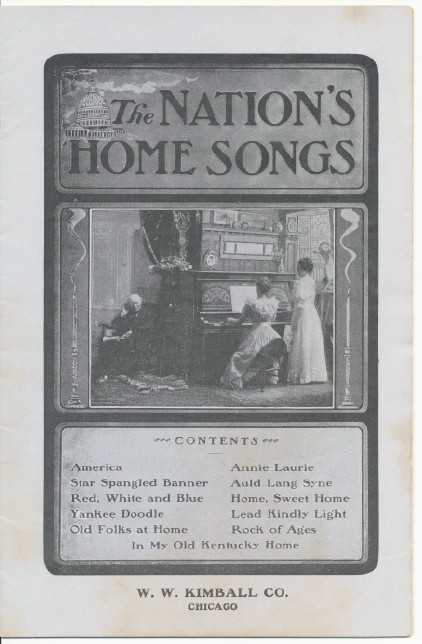 1910s Kimball Piano & Organ Company Advertising Song Book