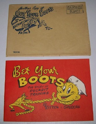 1948 US Navy Recruit Training Camp Cartoon Book