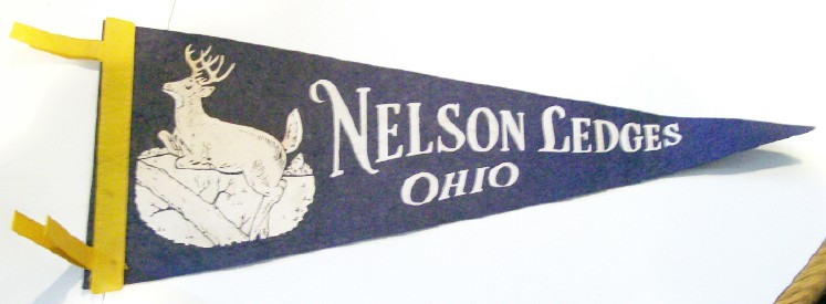 Souvenir Pennant From Nelson Ledges Ohio - Garretsville