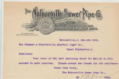 1903-05 Illustrated Letterheads - Sewer Pipe Co & Engine Co