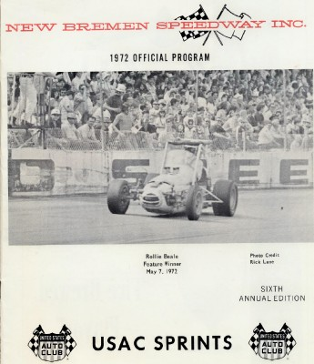 1972 New Bremen Speedway USAC Sprint Racing Program