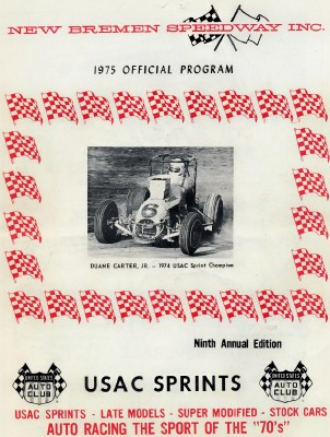1975 USAC Sprint Car Racing Program - New Bremen Speedway