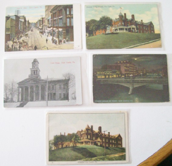 Lot Of Vintage Postcards From New Castle PA