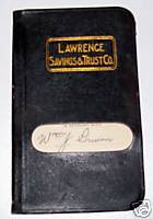 1914 New Castle PA Lawrence Savings Bank Account Book