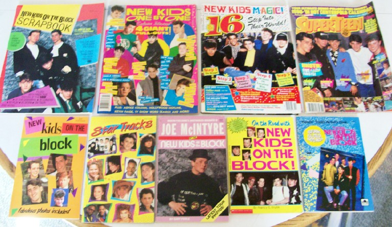 Vintage New Kids On The Block Book & Magazine Lot