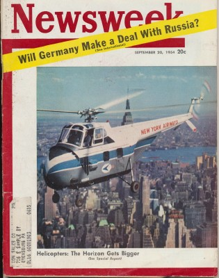 Newsweek - Septembeer 20 1954 - Germany Russia Helicopters